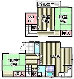 [一戸建] 大阪府泉佐野市日根野 の賃貸【/】の間取り