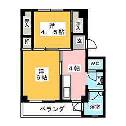 ビレッジハウス長島1号棟[5階]の間取り