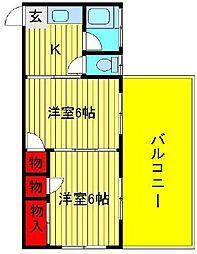 KSビル(松ヶ丘)[2階]の間取り