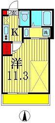 ラ・プリエ[3階]の間取り