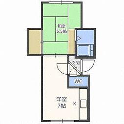 リトルスターハウス[3階]の間取り
