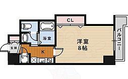 阪急今津線 宝塚南口駅 徒歩5分の賃貸マンション 12階1Kの間取り
