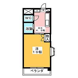 サン青山アネックス[1階]の間取り