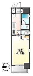 セレニティー名駅[6階]の間取り