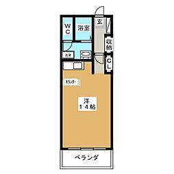 コモドベルデ[6階]の間取り