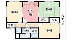 エルドラード甲子園[3階]の間取り