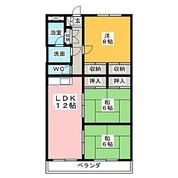 ハイゼ浅井[3階]の間取り