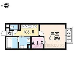 D-ROOM大萱2丁目ハイツ 1階1Kの間取り