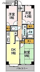 東京都東村山市恩多町2丁目の賃貸アパートの間取り