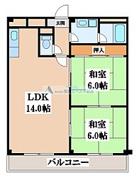 エステートサカイ[1階]の間取り