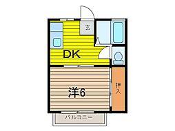 ベルセ田島[2階]の間取り