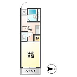 K'S TOWN 3[2階]の間取り