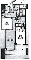 ザ・レジデンス三田[10階]の間取り