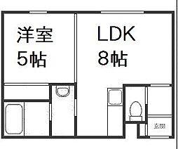 北海道札幌市西区琴似四条3丁目の賃貸アパートの間取り