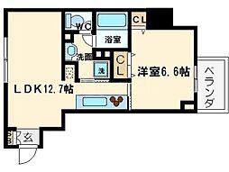 プロシード北堀江[10階]の間取り