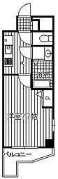 福岡市地下鉄七隈線 天神南駅 徒歩4分の賃貸マンション 9階1Kの間取り