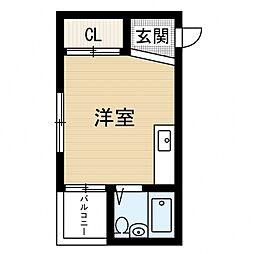 シャトル阪南[3階]の間取り