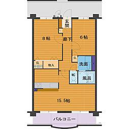 ハートフルマンション Villa Luna[B201号室]の間取り