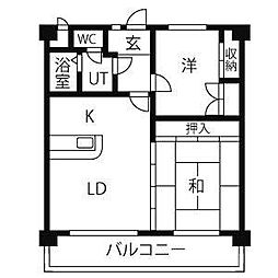 エステート新守[3階]の間取り