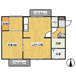 メゾン・ド・マージュ D棟[2階]の間取り