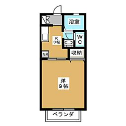 ソレイユ寿香[1階]の間取り