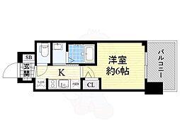 Osaka Metro御堂筋線 西中島南方駅 徒歩11分の賃貸マンション 8階1Kの間取り