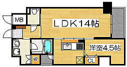 アトリエール堺新町[8階]の間取り