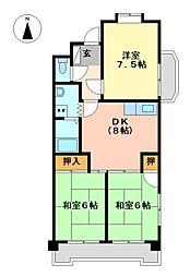 ラフォーレ二城[2階]の間取り