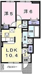 フリーデI[1階]の間取り