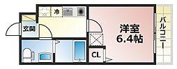 ダイドーメゾン神戸六甲[8階]の間取り