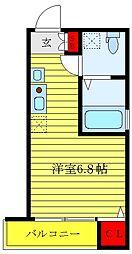 JR山手線 大塚駅 徒歩9分の賃貸アパート 1階ワンルームの間取り