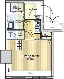 ラクレイス薬院[3階]の間取り