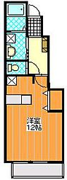 千葉県千葉市中央区村田町の賃貸アパートの間取り