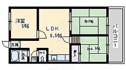 大阪モノレール本線 少路駅 徒歩29分の賃貸マンション 3階3LDKの間取り