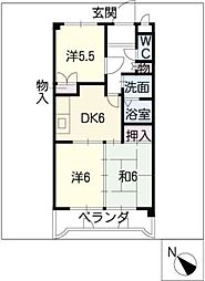 DOMUS.SHIMA[4階]の間取り