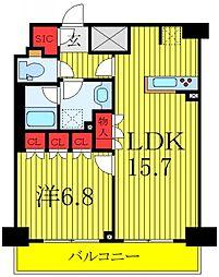 JR埼京線 板橋駅 徒歩6分の賃貸マンション 14階1LDKの間取り