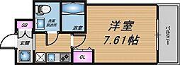 Osaka Metro谷町線 天神橋筋六丁目駅 徒歩3分の賃貸マンション 4階1Kの間取り