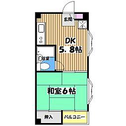 東京都立川市幸町5丁目の賃貸マンションの間取り