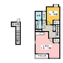 ノア富木島[2階]の間取り