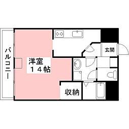 メゾンドールYASUDA[4階]の間取り