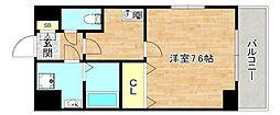 Osaka Metro谷町線 千林大宮駅 徒歩13分の賃貸マンション 4階1Kの間取り