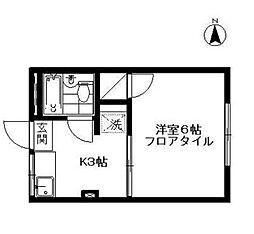 杉田小嶋ハイツ[102号室]の間取り