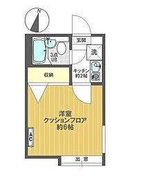 千葉県松戸市稔台2の賃貸アパートの間取り