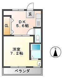 ヴィラナリー富田林1号棟[2階]の間取り