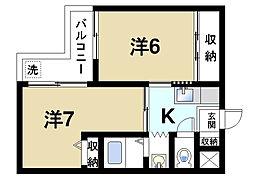 シティスイート西大寺P-3[2階]の間取り