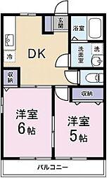 コンフォートヒルズ弐番館[1階]の間取り