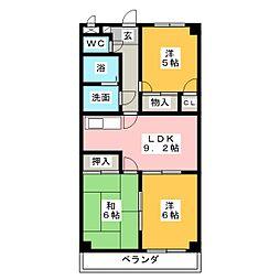 クレアールK2[4階]の間取り