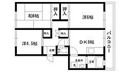 仁川マンション[405号室]の間取り