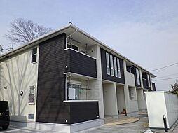 群馬県高崎市下里見町の賃貸アパートの外観