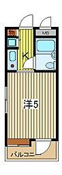 ライオンズマンション川口並木第2[8階]の間取り